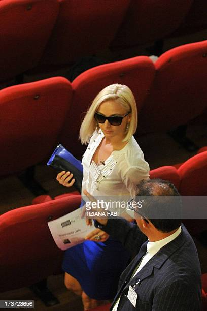 Moldovan Domnica Cemortan who was spotted with Costa Concordia's captain Francesco Schettino during the spectacular crash of his cruise ship in 2012...