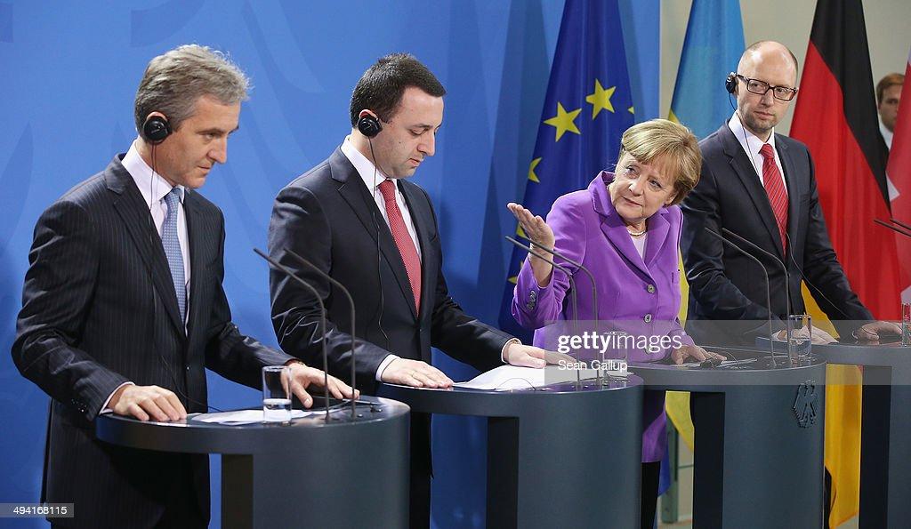 Merkel Meets With Heads Of Ukraine, Georgia and Moldova
