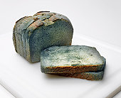 Moldy Bread on Cutting Board