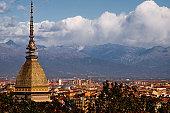 Mole Antonelliana, Torino and Alps