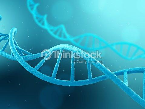 DNA molecule on blue background : Foto de stock