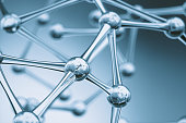 Scientific molecular structures background.