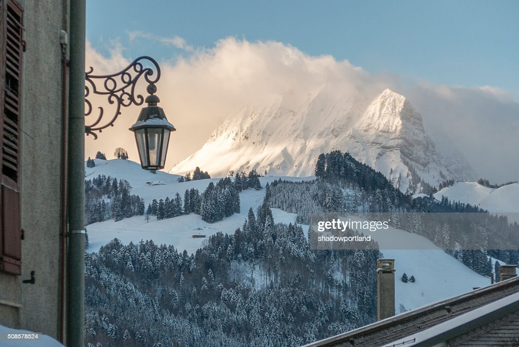 Moleson sur Gruyères, Schweiz : Stock-Foto