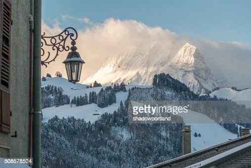 moleson sur gruyeres, switzerland : Stock Photo