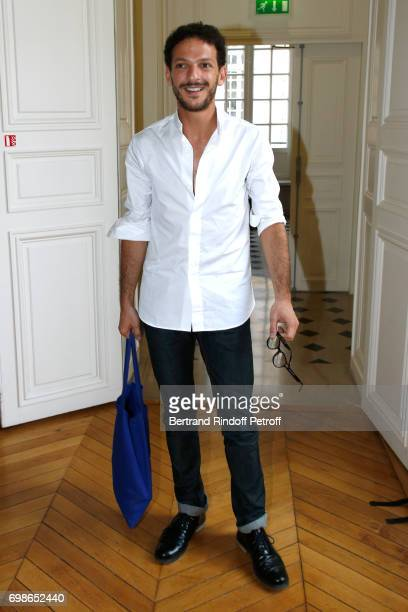 Moliere awarded actor Vincent Dedienne attends the 'Caisse d'Epargne IleDeFrance' supports the Ceremony of the Molieres 2017 Party on June 20 2017 in...