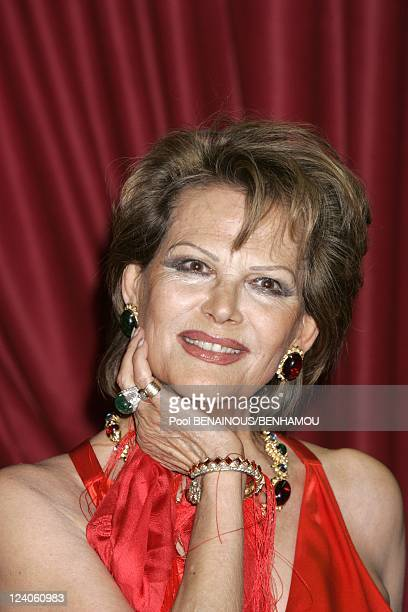Molieres 2005 ceremony at the Theatre Mogador In Paris France On May 09 2005 Claudia Cardinale