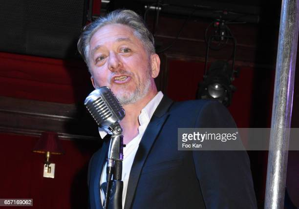 Molieres awarded actor Nicolas Briancon attends Pink Paradise Club 15th Anniversary on March 23 2017 in Paris France