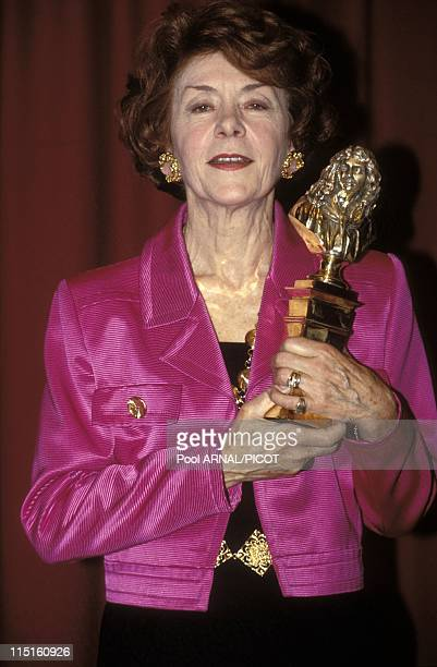 'Molieres' stage Awards Ceremony in Paris France in May 1989 Annick Alane