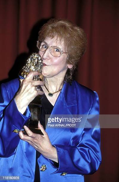 'Molieres' stage Awards Ceremony in Paris France in May 1989 Tsilla Chelton moliere 'Meilleure comedienne' for 'Les chaises'