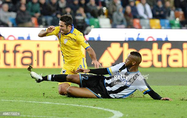 Molla Wague of Udinese Calcio competes with Citadin Martins Eder of UC Sampdoria during the Serie A match between Udinese Calcio and UC Sampdoria at...