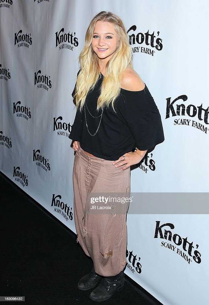 Mollee Gray attends the Knott's Scary Farm 'Haunt' VIP Opening Night Party at Knott's Berry Farm on October 3, 2013 in Buena Park, California.