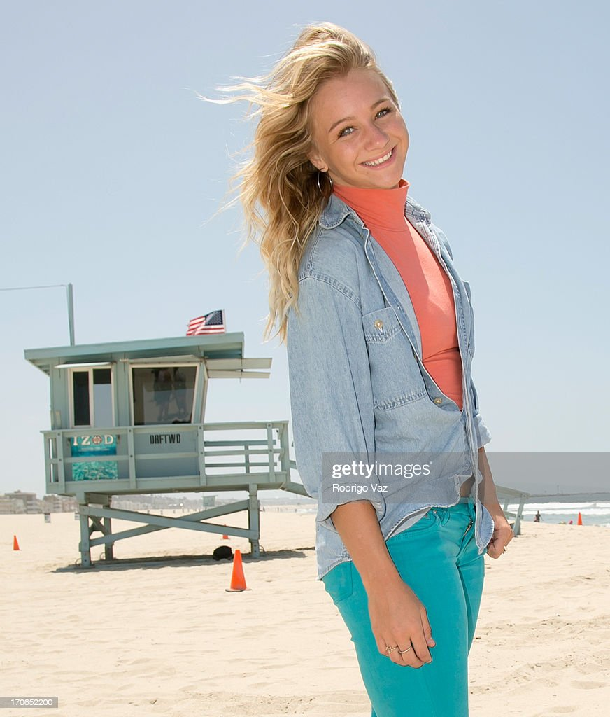 Mollee Gray, star of Disney's 'Teen Beach Movie' joins Heal The Bay for beach clean up on June 15, 2013 in Venice, California.