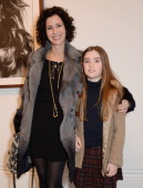 Mollie Dent Brocklehurst and daughter Violet attend a private view of Bailey's Stardust a exhibition of images by David Bailey supported by Hugo Boss...