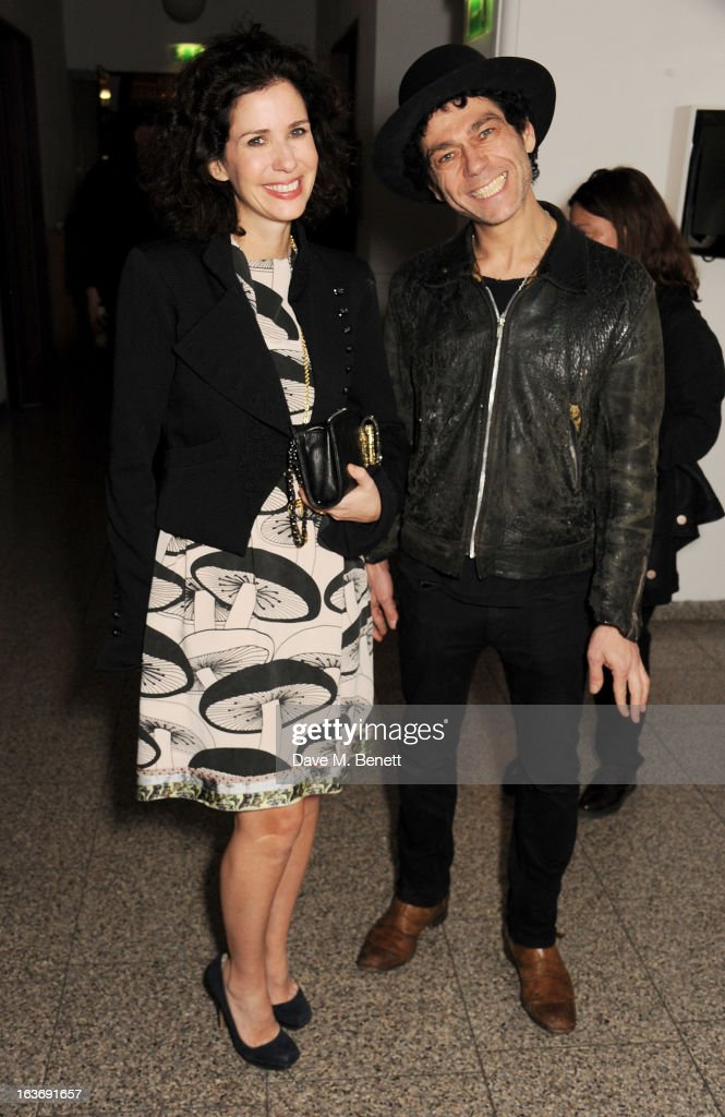 Mollie Dent Brocklehurst (L) and Tim Noble attend the Swarovski Whitechapel Gallery Art Plus Fashion fundraising gala in support of the gallery's education fund at The Whitechapel Gallery on March 14, 2013 in London, England.