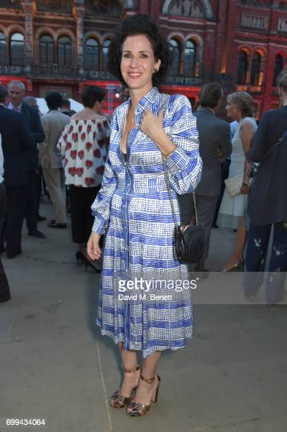 Mollie Dent Brocklehurst attends the 2017 annual VA Summer Party in partnership with Harrods at the Victoria and Albert Museum on June 21 2017 in...
