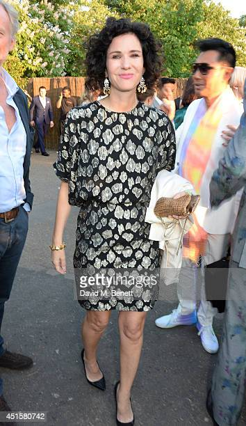 Mollie Dent Brocklehurst attends The Serpentine Gallery Summer Party cohosted by Brioni at The Serpentine Gallery on July 1 2014 in London England