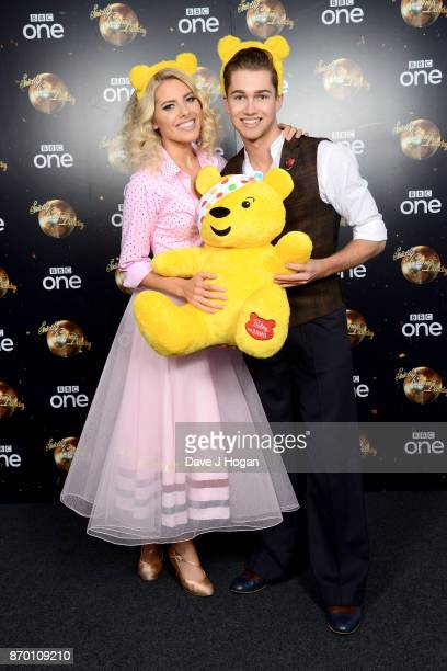 Mollie King and AJ Pritchard attend the Strictly Come Dancing for BBC Children in Need photocall at Elstree Studios on November 4 2017 in Borehamwood...