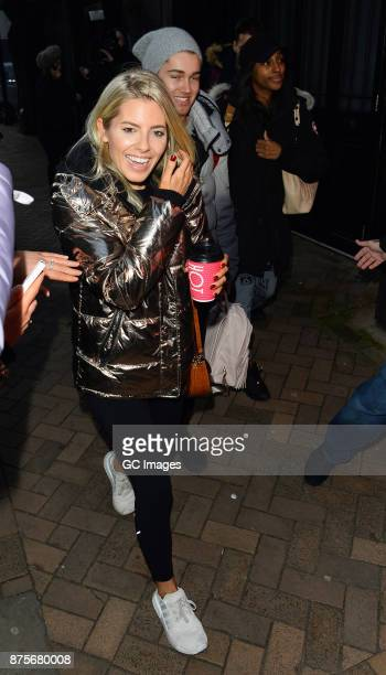 Mollie King and AJ Pritchard seen arriving at rehearsals at the Tower Ballroom on November 18 2017 in Blackpool England
