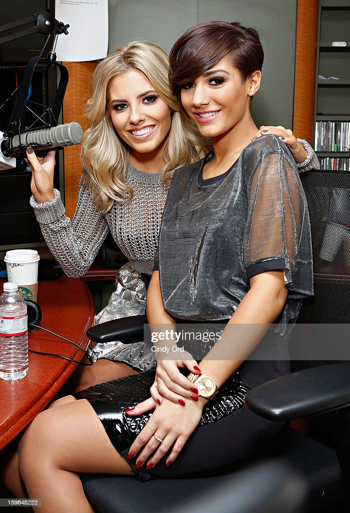 <a gi-track='captionPersonalityLinkClicked' href=/galleries/search?phrase=Mollie+King&family=editorial&specificpeople=5522262 ng-click='$event.stopPropagation()'>Mollie King</a> and Frankie Sandford of The Saturdays visit 'The Morning Jolt With Larry Flick' at the SiriusXM Studios on January 17, 2013 in New York City.
