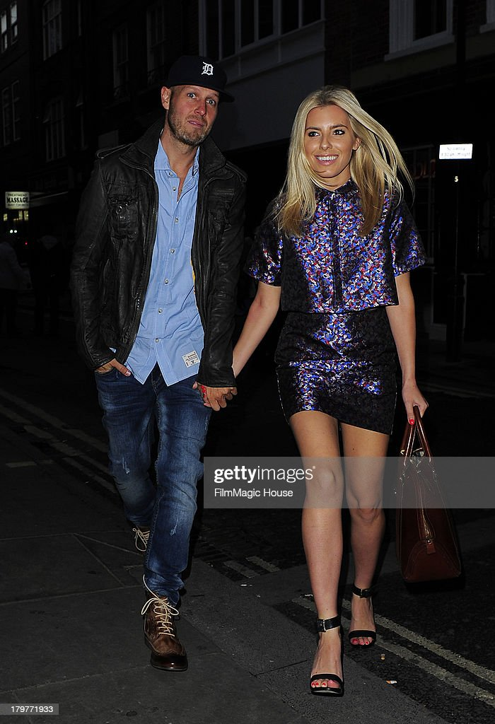 <a gi-track='captionPersonalityLinkClicked' href=/galleries/search?phrase=Mollie+King&family=editorial&specificpeople=5522262 ng-click='$event.stopPropagation()'>Mollie King</a> and her Boyfriend Jordan Omley arrive at The Piccadilly Theatre to watch 'We Will Rock You' before heading to STK steak restaurant for dinner. on September 6, 2013 in London, England.