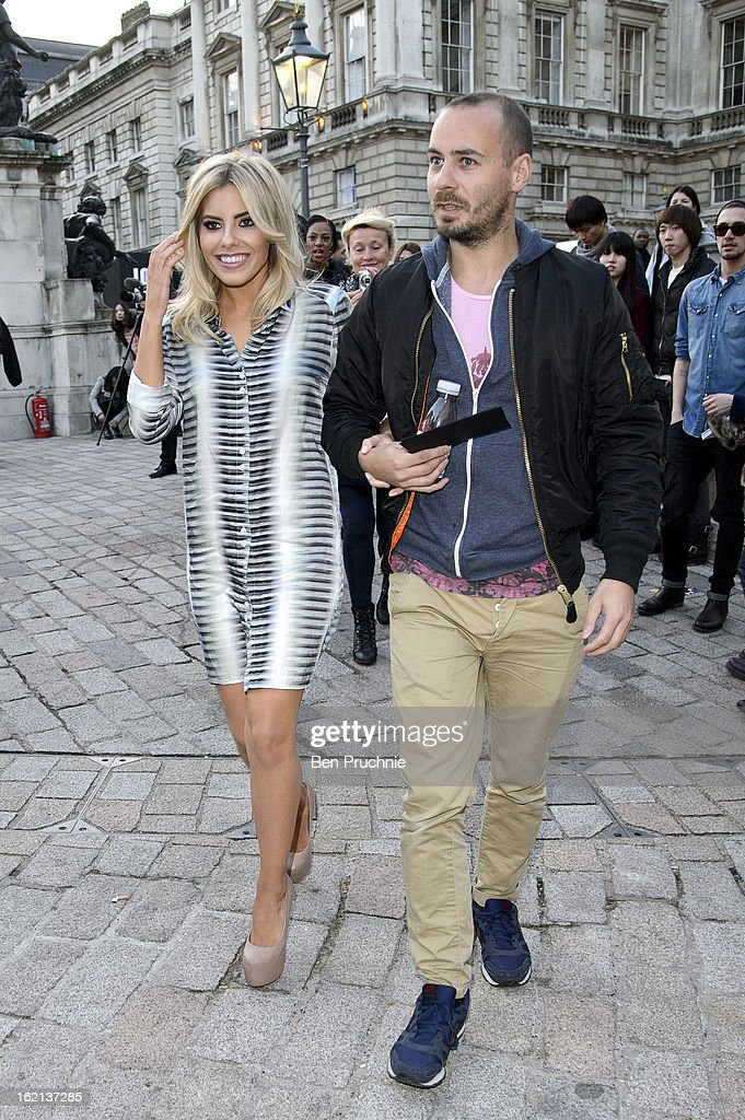 <a gi-track='captionPersonalityLinkClicked' href=/galleries/search?phrase=Mollie+King&family=editorial&specificpeople=5522262 ng-click='$event.stopPropagation()'>Mollie King</a> arrives at Somerset House during London Fashion Week on February 19, 2013 in London, England.