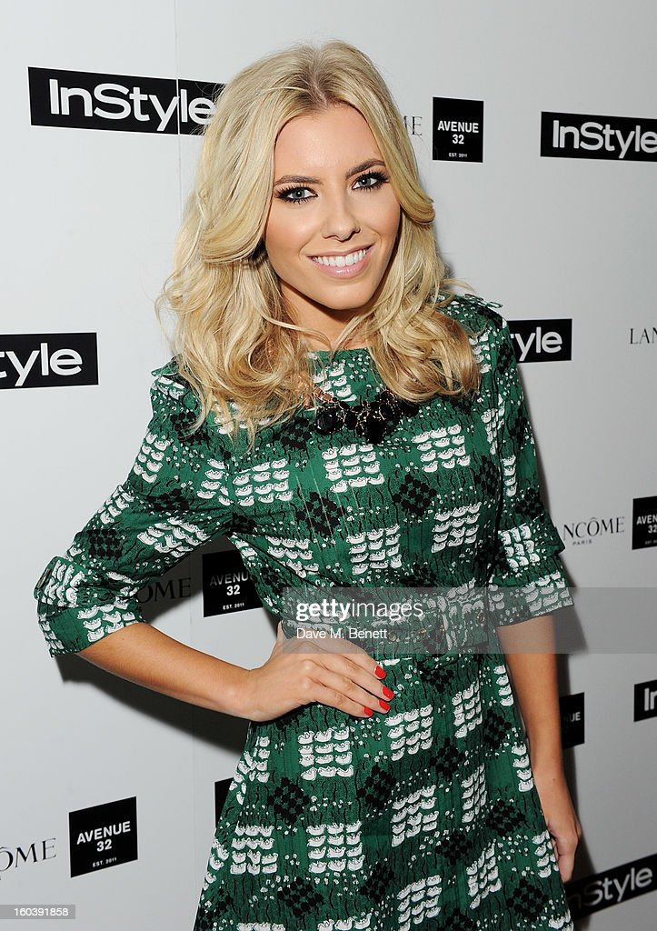 Mollie King arrives at the InStyle Best Of British Talent party in association with Lancome and Avenue 32 at Shoreditch House on January 30, 2013 in London, England.