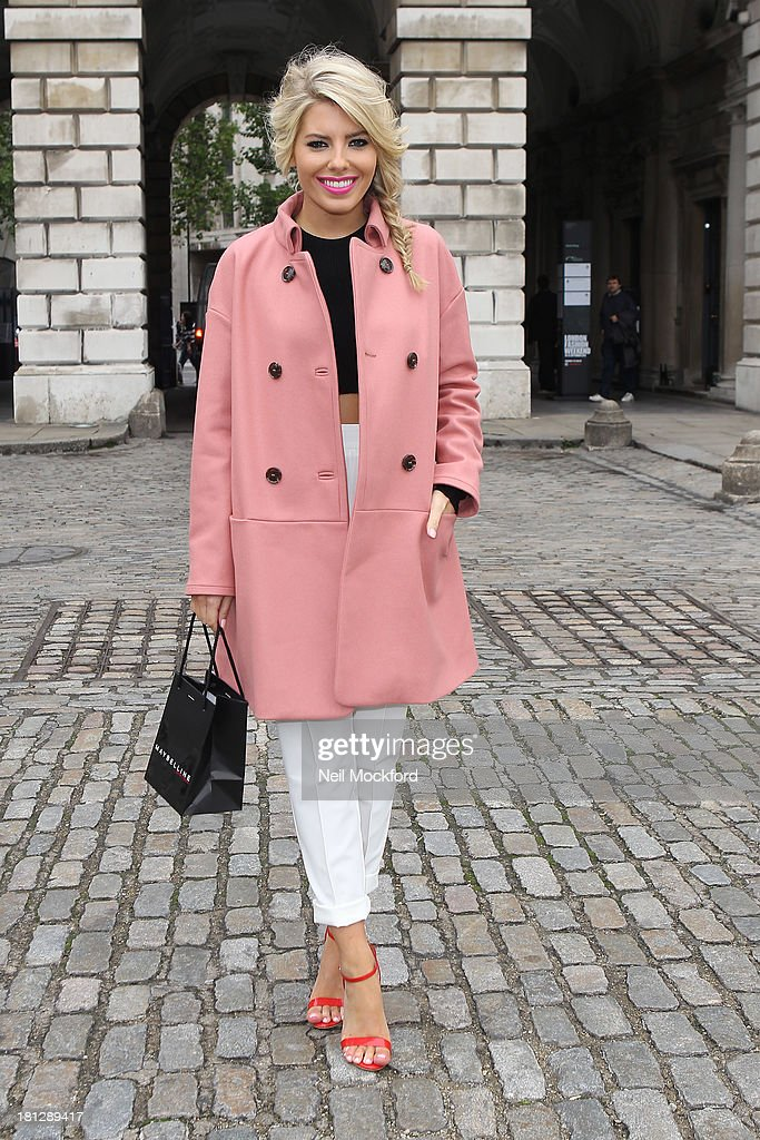 Mollie King at Somerset House with Maybelline for Vodafone London Fashion weekend on September 20, 2013 in London, England.