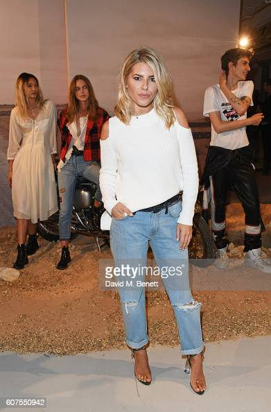 Mollie King attends as Belstaff and Liv Tyler launch the Spring Summer 17 collection during London Fashion Week at Victoria House on September 18...