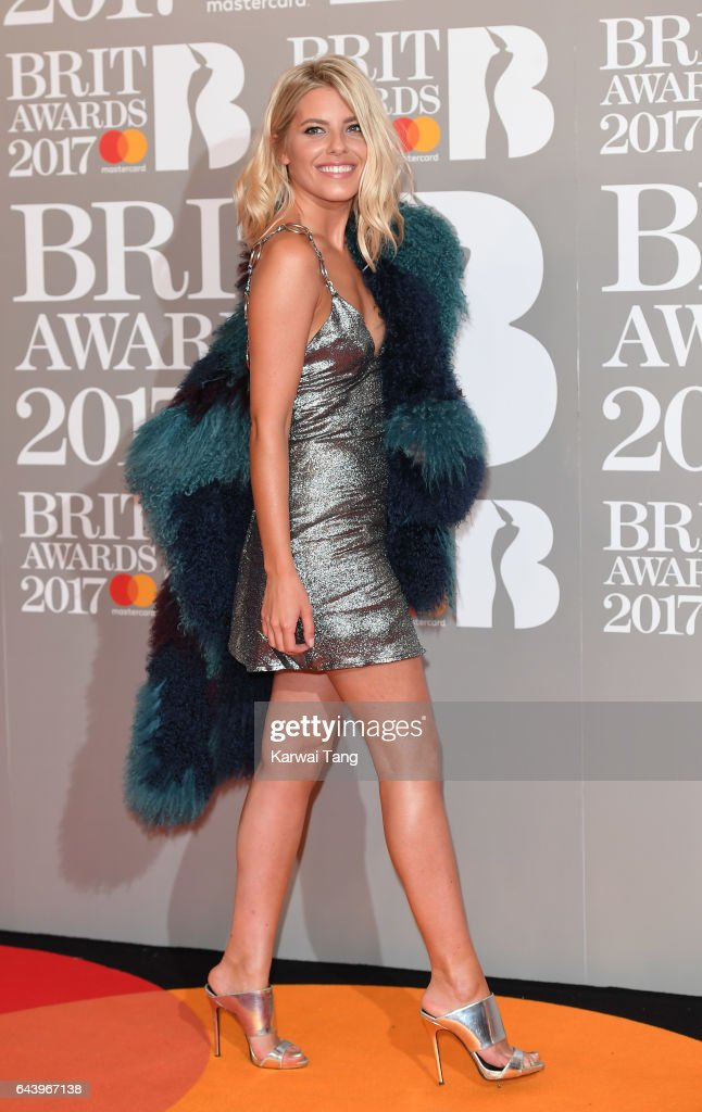 ONLY. Mollie King attends The BRIT Awards 2017 at The O2 Arena on February 22, 2017 in London, England.