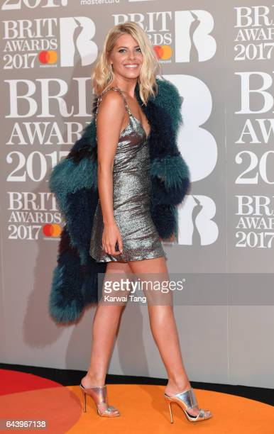 ONLY Mollie King attends The BRIT Awards 2017 at The O2 Arena on February 22 2017 in London England