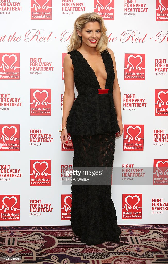 Mollie King attends the British Heart Foundations Roll Out The Red Ball at Park Lane Hotel on February 10 2015 in London England