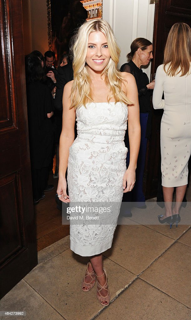 Mollie King attends the Creative London party hosted by the British Fashion Council and BPI at Spencer House on February 23 2015 in London England