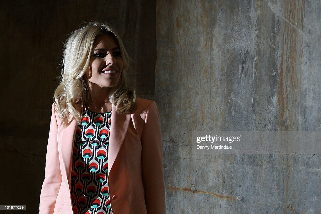 Mollie King attends the Fashion East show during London Fashion Week Fall/Winter 2013/14 at TopShop Show Space on February 18, 2013 in London, England.