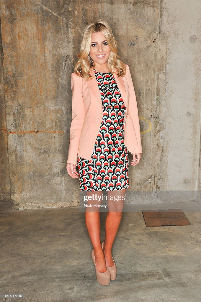 Mollie King attends the Fashion East show during London Fashion Week Fall/Winter 2013/14>> at TopShop Show Space on February 18, 2013 in London, England.
