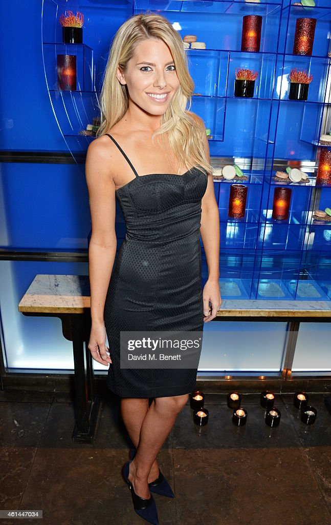 Mollie King attends the GQ London Collections Men AW15 closing dinner at Hakkasan Hanway Place on January 12 2015 in London England