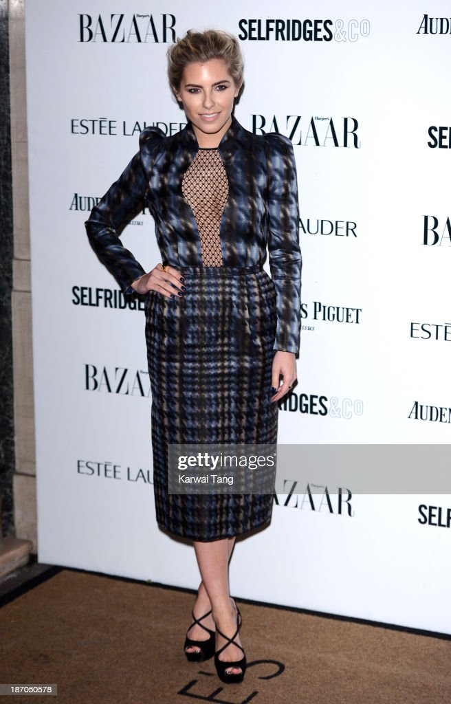 Mollie King attends the Harpers Bazaar Women of the Year Awards at Claridge's Hotel on November 5, 2013 in London, England.