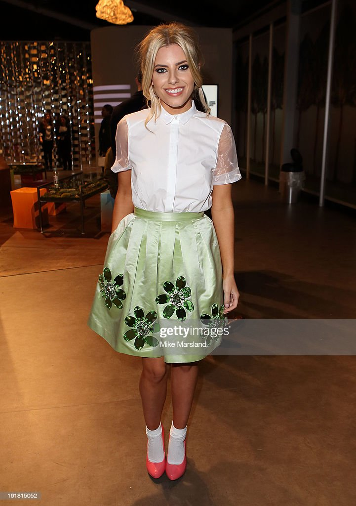 Mollie King attends the Issa London show during London Fashion Week Fall/Winter 2013/14 at Somerset House on February 16, 2013 in London, England.