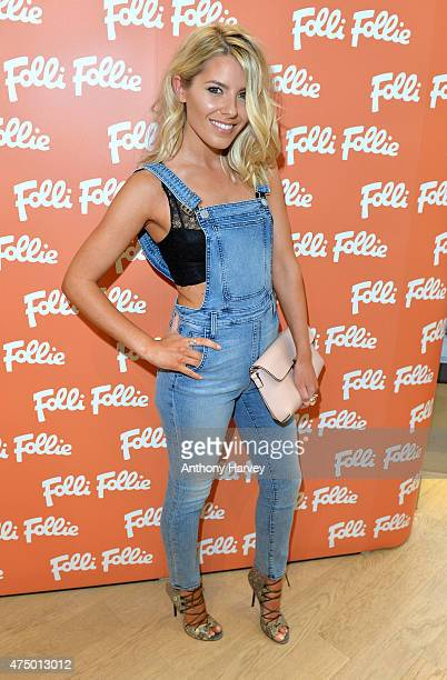 Mollie King attends the launch of the New Folli Follie Flagship Store on Oxford Street on May 28 2015 in London England