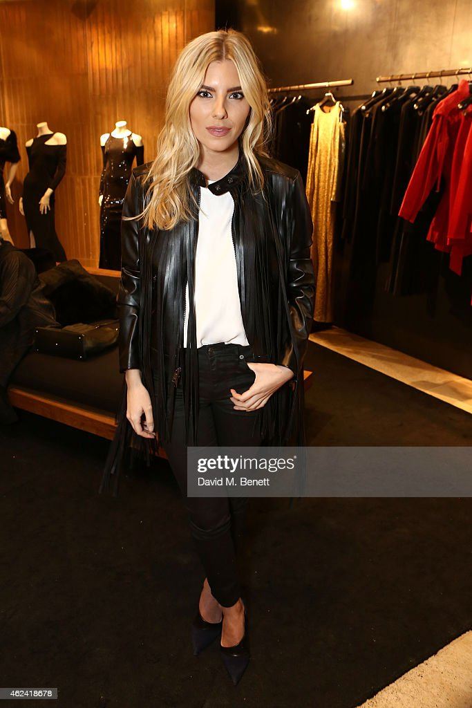 Mollie King attends the launch of the Paul Andrew popup at the Donna Karan New York Store hosted by Paul Andrew and Caroline Issa on January 28 2015...