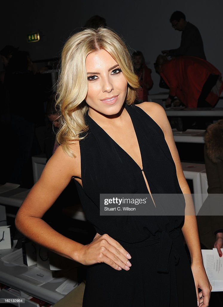 Mollie King attends the Maria Grachvogel show during London Fashion Week Fall/Winter 2013/14 at Somerset House on February 19, 2013 in London, England.