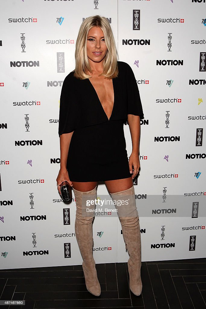 Mollie King attends the Notion Magazine X Swatch Issue 70 launch party at Chotto Matte on September 9 2015 in London England