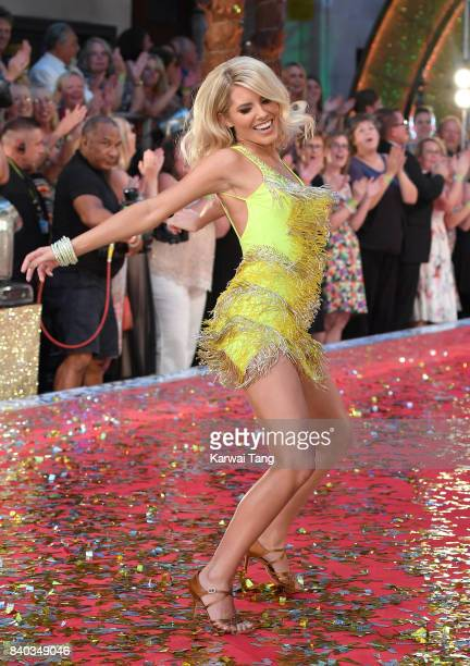 Mollie King attends the 'Strictly Come Dancing 2017' red carpet launch at Broadcasting House on August 28 2017 in London England