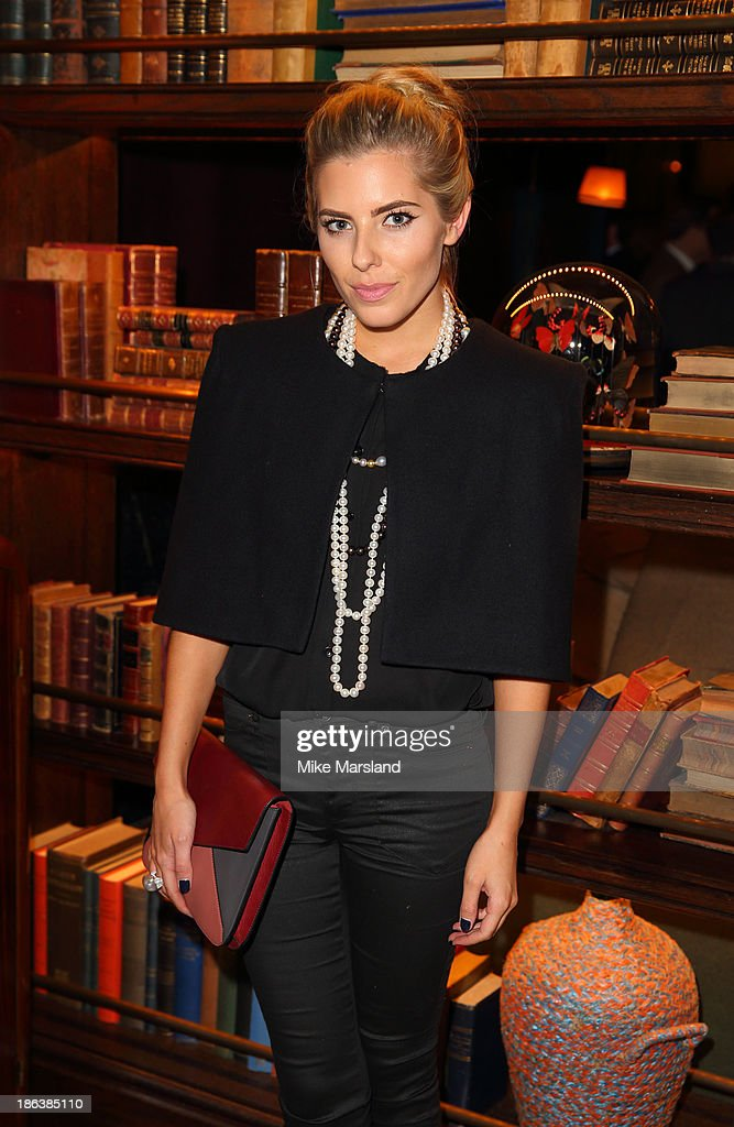 Mollie King celebrates the opening of Rosewood London on October 30 2013 in London England