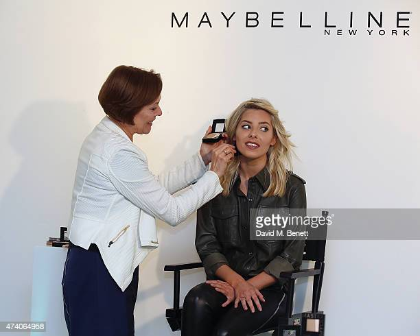 Mollie King is announced today as Maybeline's new UK ambassador at the makeup masterclass for the new Master Sculpt contouring palette on May 20 2015...