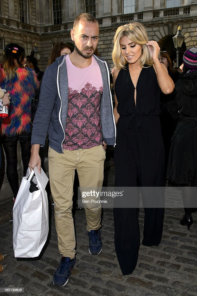 <a gi-track='captionPersonalityLinkClicked' href=/galleries/search?phrase=Mollie+King&family=editorial&specificpeople=5522262 ng-click='$event.stopPropagation()'>Mollie King</a> is pictured arriving at Somerset House during London Fashion Week on February 19, 2013 in London, England.