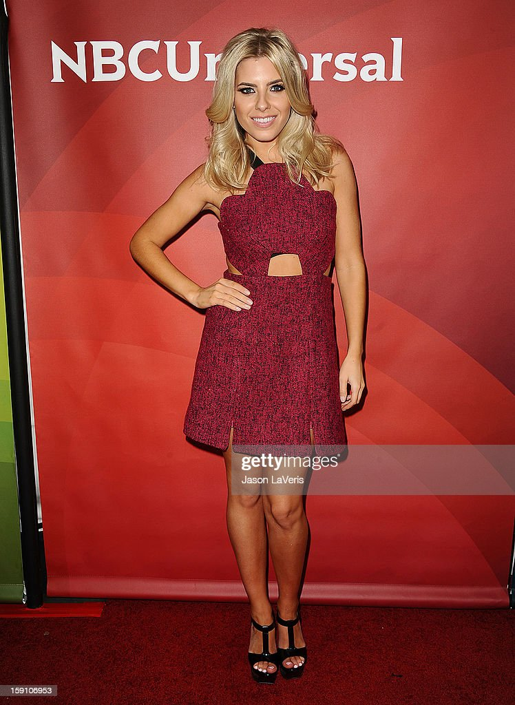 Mollie King of The Saturdays attends the 2013 NBC TCA Winter Press Tour at The Langham Huntington Hotel and Spa on January 7, 2013 in Pasadena, California.