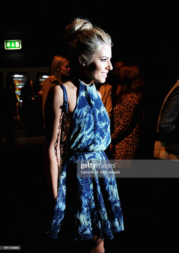 Mollie King of The Saturdays attends the Felder Felder show during London Fashion Week Fall/Winter 2013/14 at Somerset House on February 15, 2013 in London, England.