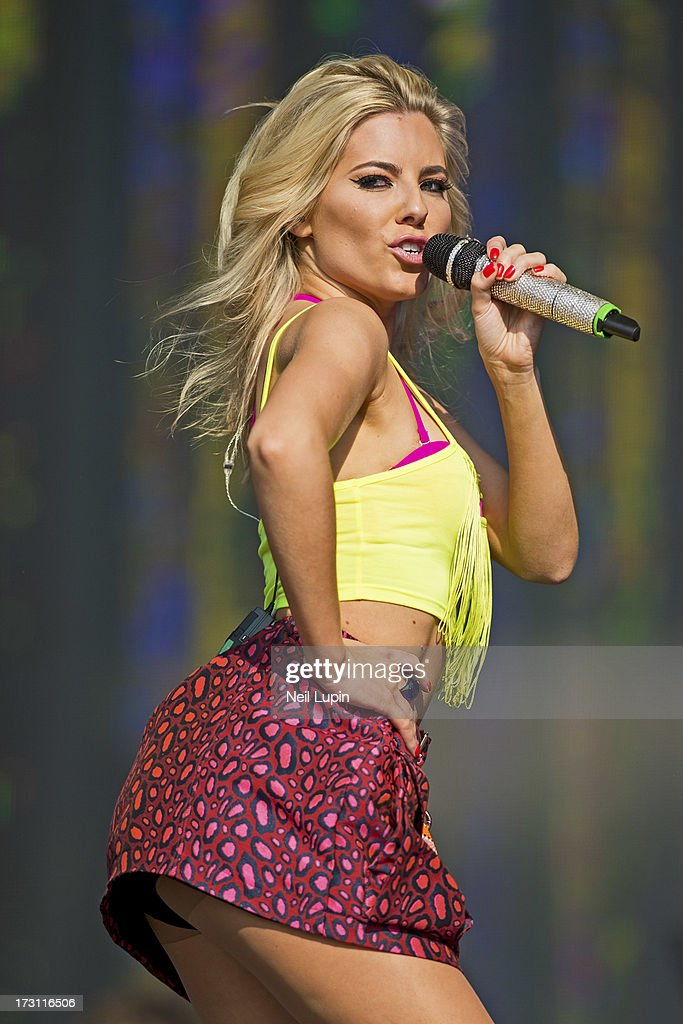 Mollie King of The Saturdays performs at day 3 of British Summer Time Hyde Park presented by Barclaycard at Hyde Park on July 7, 2013 in London, England.
