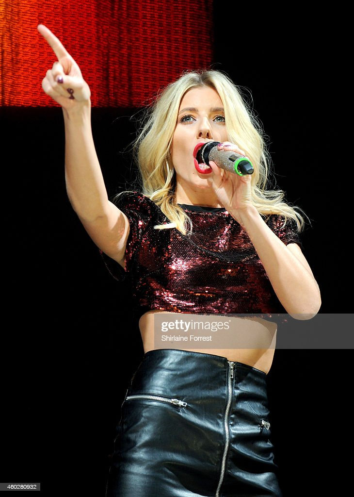 Mollie King of The Saturdays performs at Radio City Live on December 10 2014 in Liverpool England
