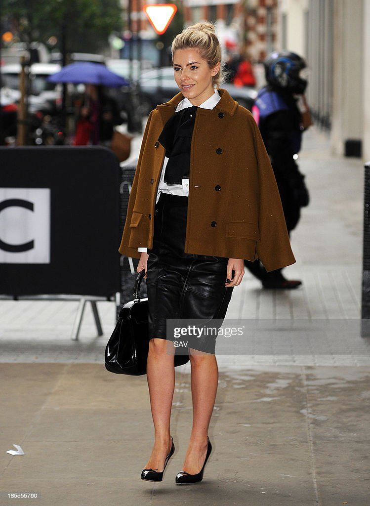 Mollie King of The Saturdays pictured at Radio 1 on October 22, 2013 in London, England.